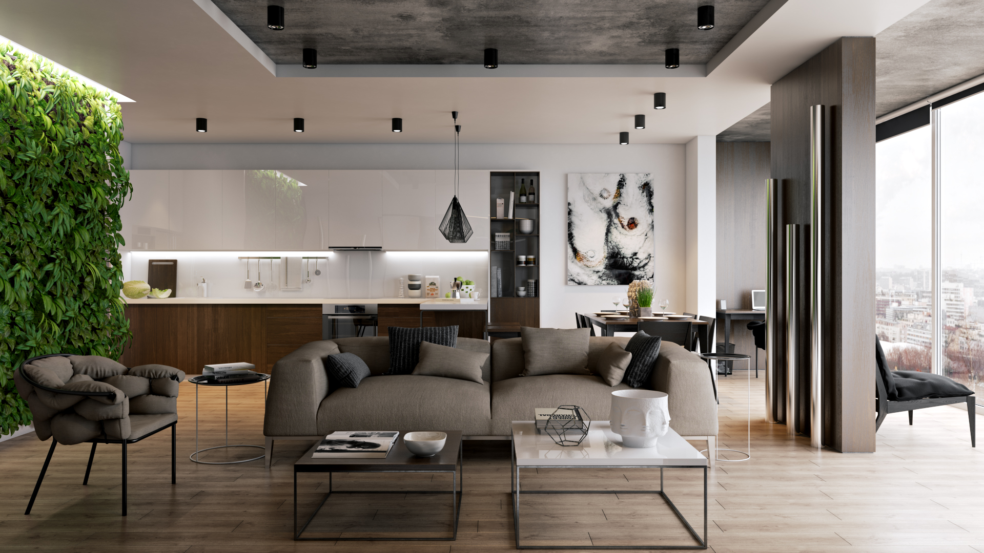 Arredare zona living: idee arredamento soggiorno moderno design