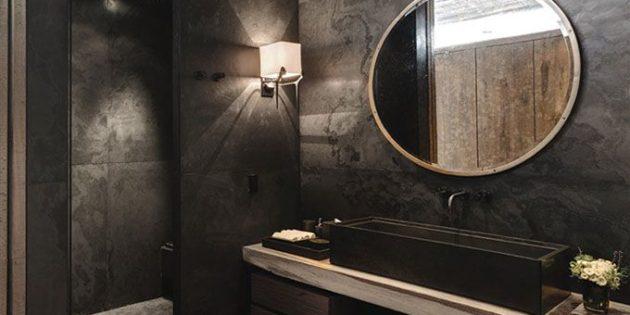 Come arredare un bagno moderno grigio scuro