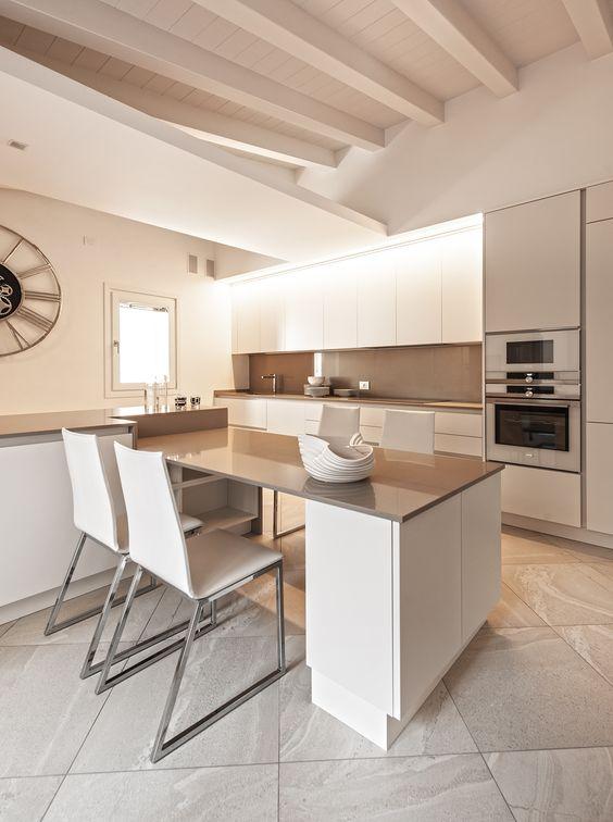Come arredare una cucina moderna bianca 100 immagini for Casa moderna bianca