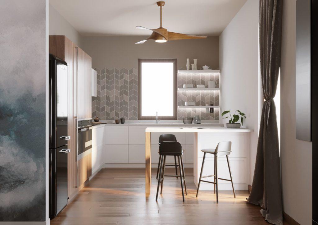 cucina bianca moderna scavolini
