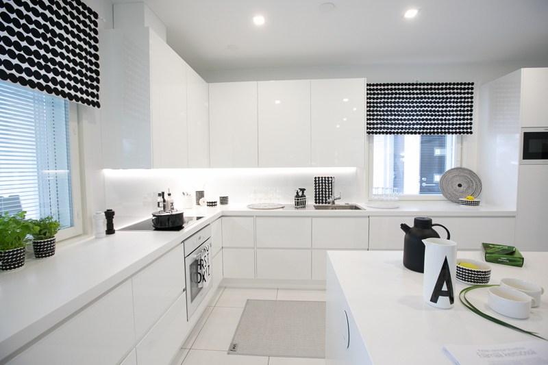 Cucina Moderna Bianca. Cucine Moderne Bianche E Acciaio. Cucina ...