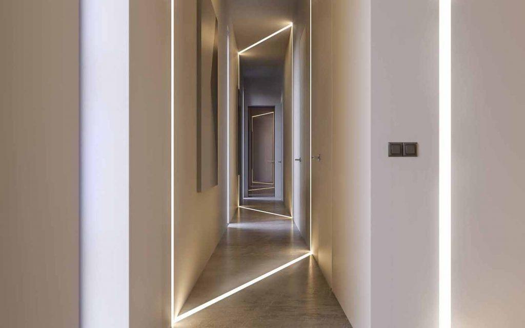 Illuminazione Corridoio Lungo E Stretto : Arredare il corridoio: le migliori idee dellarchitetto per farlo