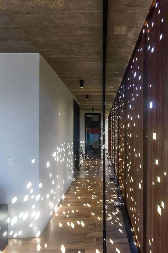arredare il corridoio illuminazione dal basso