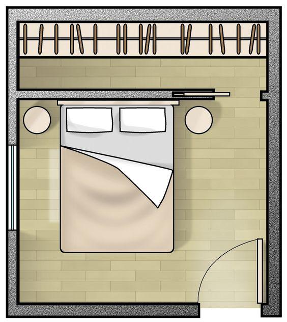 Progettare una cabina armadio dietro la testata del letto