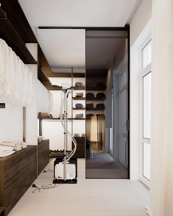 Progettare una cabina armadio camera lunga e stretta