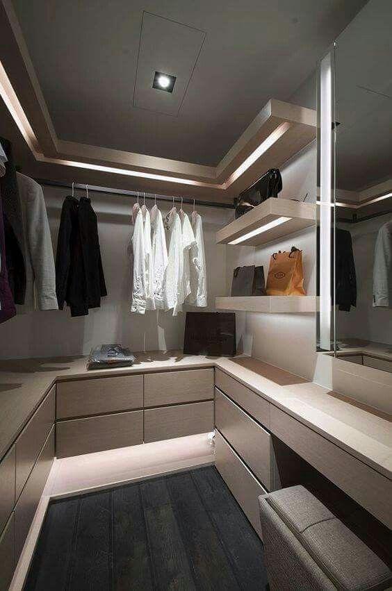 cabina armadio idee di illuminazione