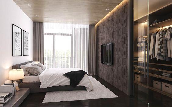 Camera con cabina armadio angolare for Progettare una camera da letto
