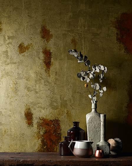 Colori pitture per pareti effetto metallo