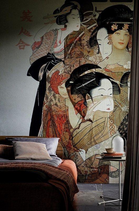 Carta da Parati moderna design giapponese