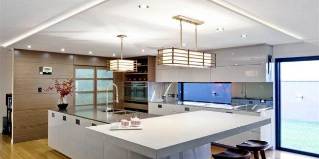 illuminare controsoffitto in cartongesso cucina