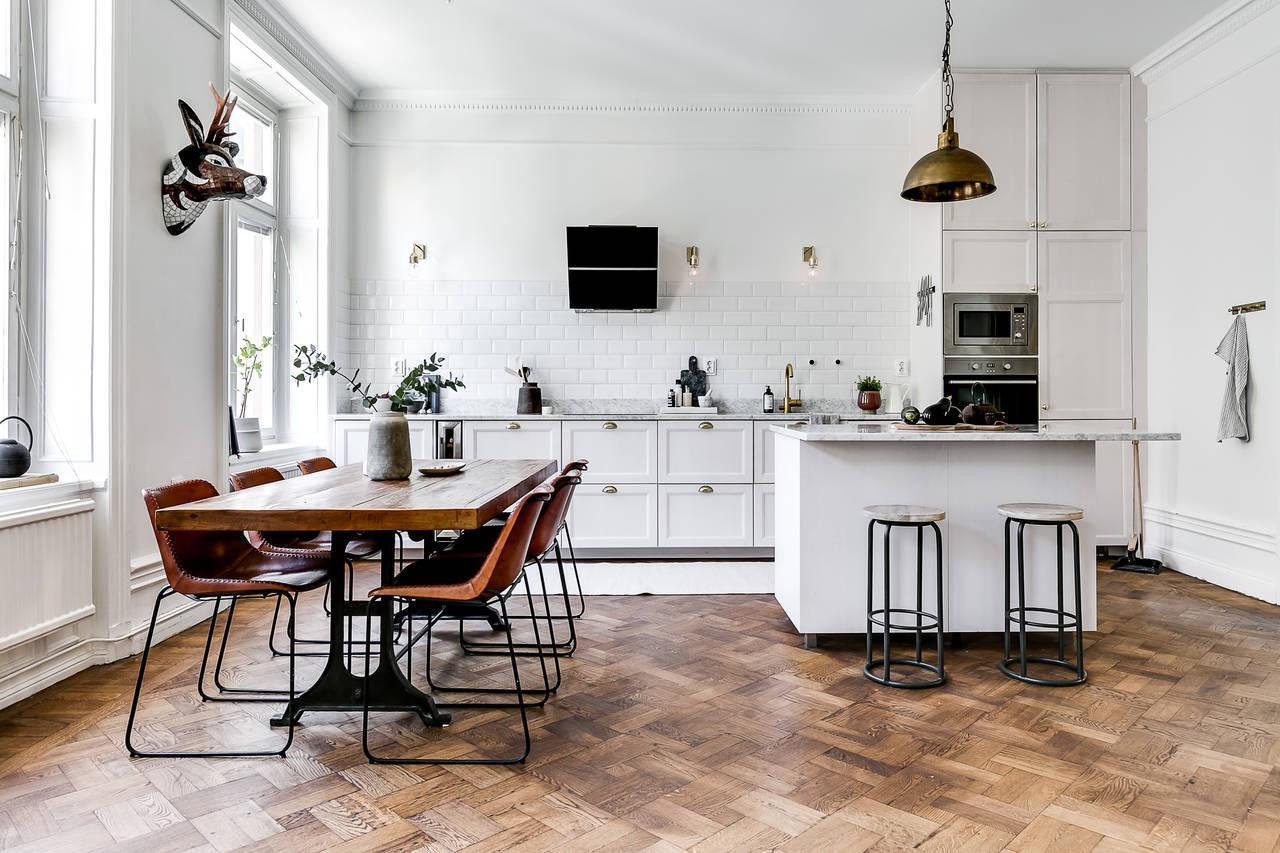 Stacco Tra Parquet E Piastrelle paraschizzi cucina: 60 idee per la tua cucina moderna
