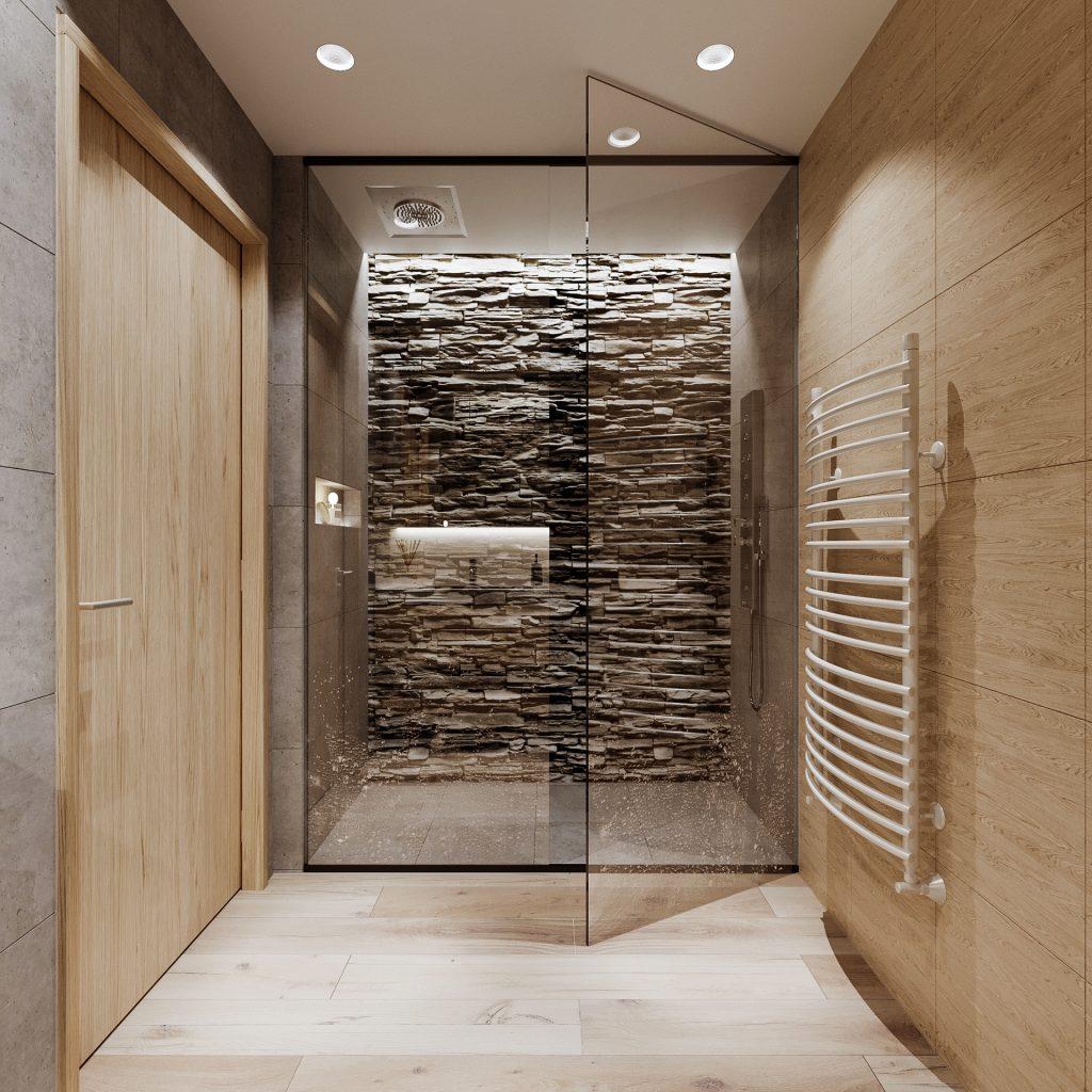 doccia in un bagno piccolo