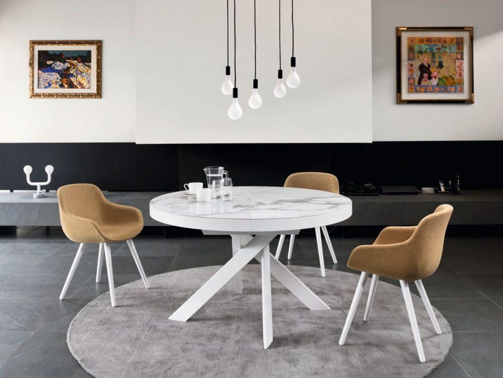 tavolo da pranzo tondo allungabile