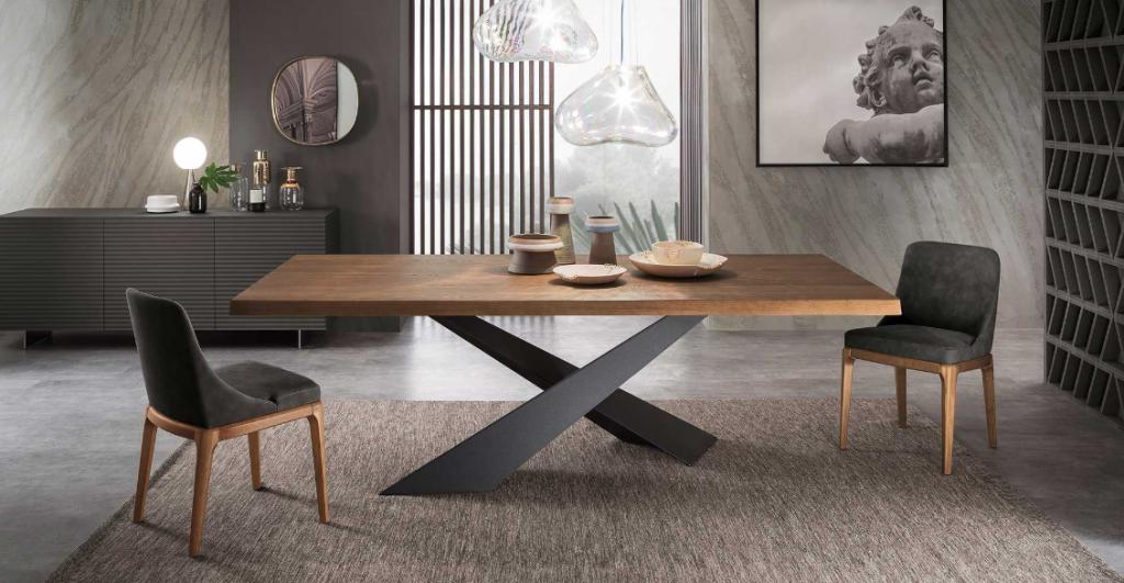 tavolo da pranzo contemporaneo in legno