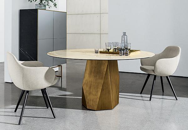 tavolo da pranzo contemporaneo prezioso