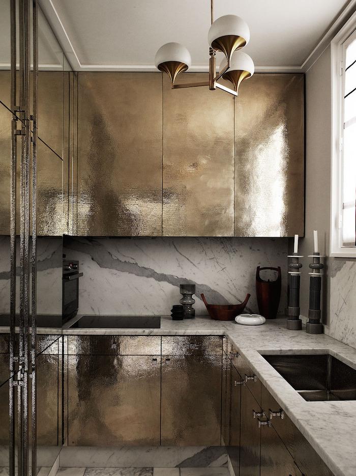 Cucina in metallo tendenza 2019