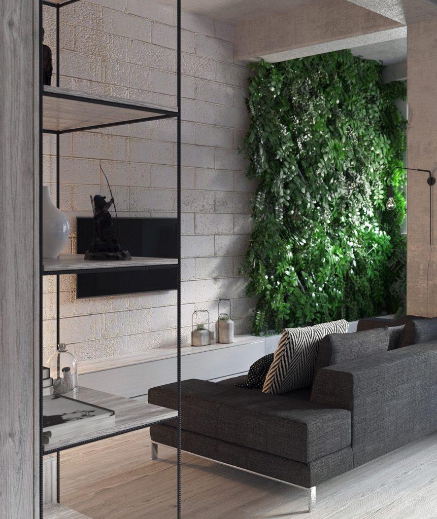 casa piccola arredata con pianta