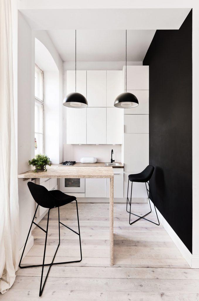 cucina piccolissima bianca
