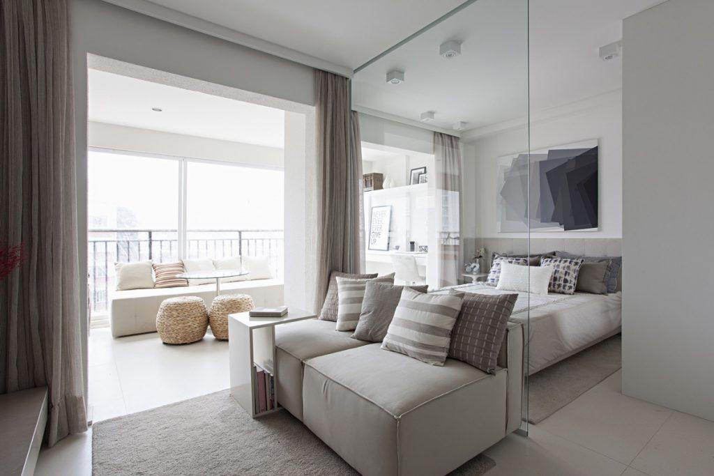 camera da letto ambiente unico casa piccola