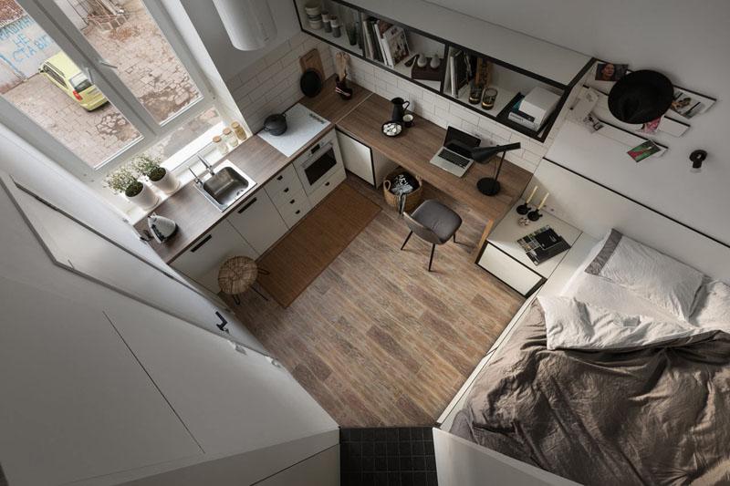 Cucina E Soggiorno In 18 Mq.Arredare Case Piccole Di 40 O 50 Mq Progetti E Idee Per