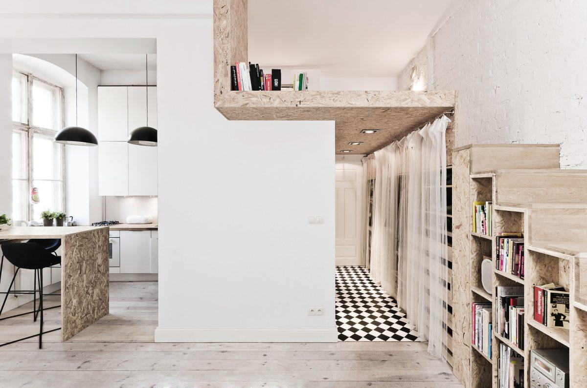 casa piccola con soppalco arredata