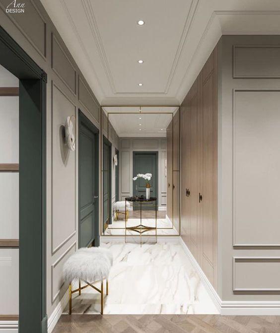 Boiserie moderne 30 soluzioni per arredare casa con for Case bianche moderne