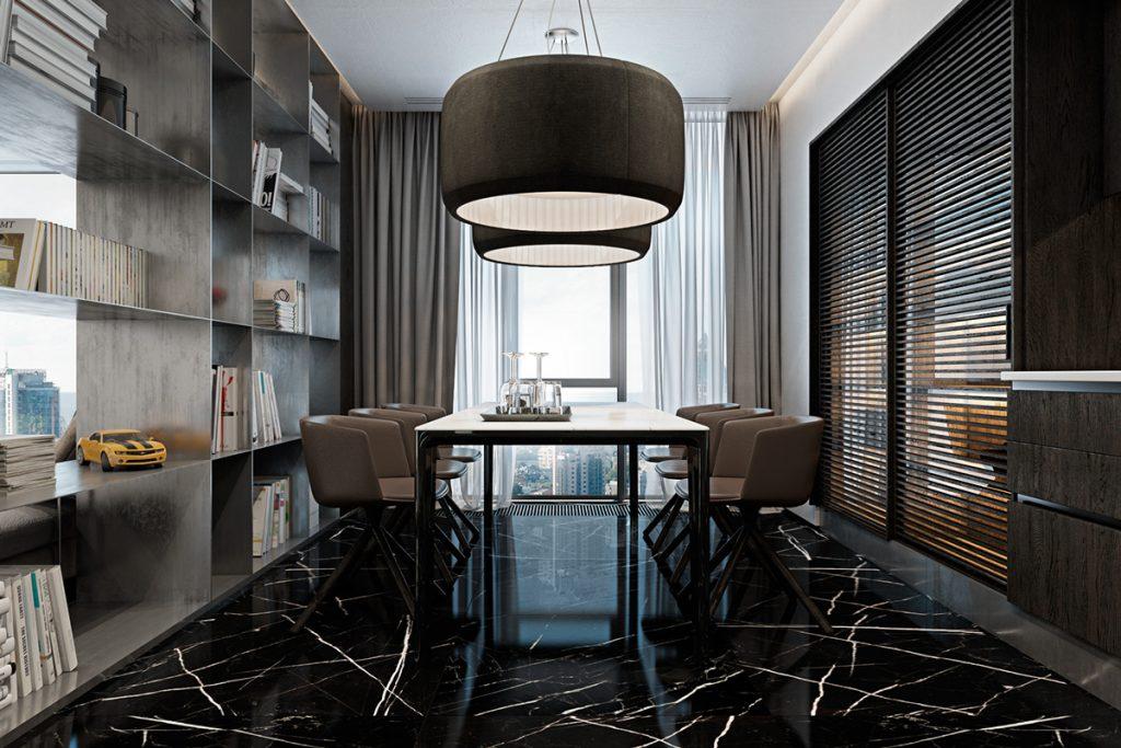 pavimento marmo nero arredamento