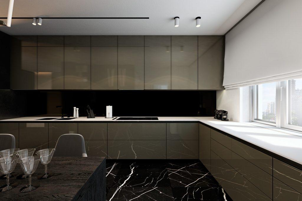arredamento cucina marmo scuro