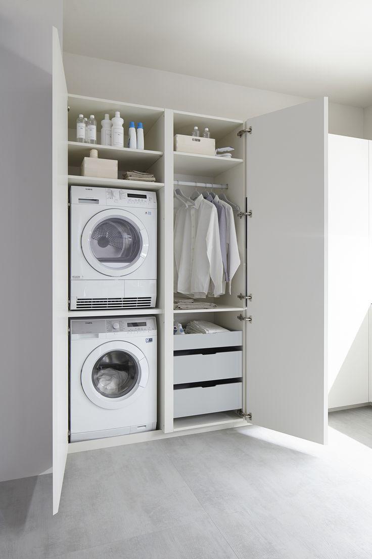 Asciugatrice Dentro Cabina Armadio arredare lavanderia: più di 50 idee per organizzarla al meglio