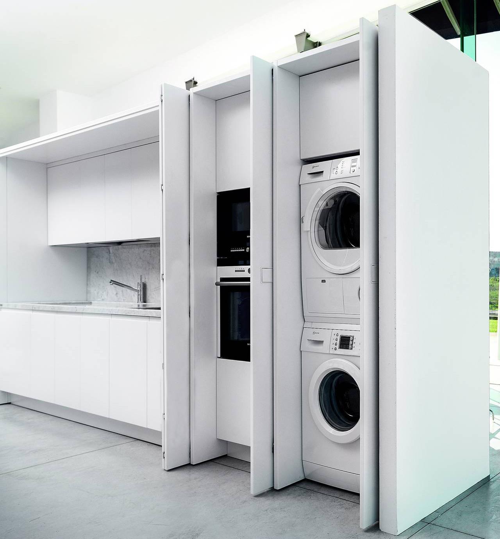 Mobile Bagno Con Colonna Lavatrice arredare lavanderia: più di 50 idee per organizzarla al meglio
