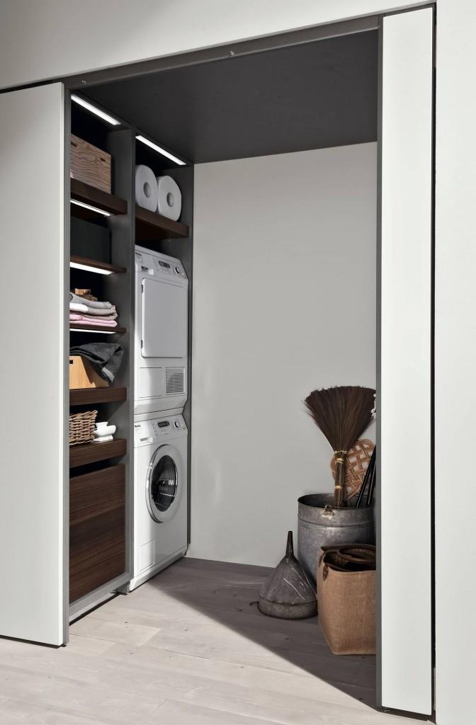 Armadio lavanderia per lavatrici e asciugatrici