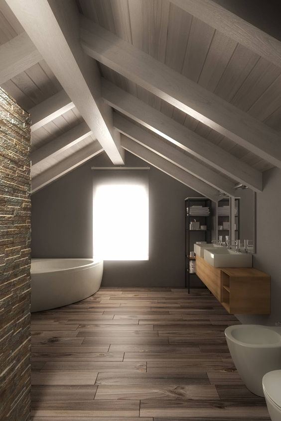 Arredare un bagno in mansarda