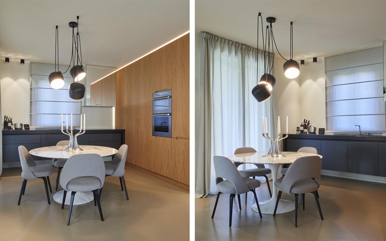 Illuminazione Piano Lavoro Cucina illuminare l'open space: idee illuminazione casa moderna