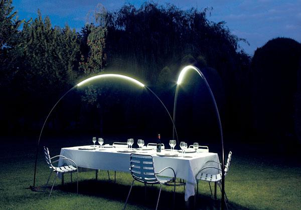 illuminazione esterna del giardino