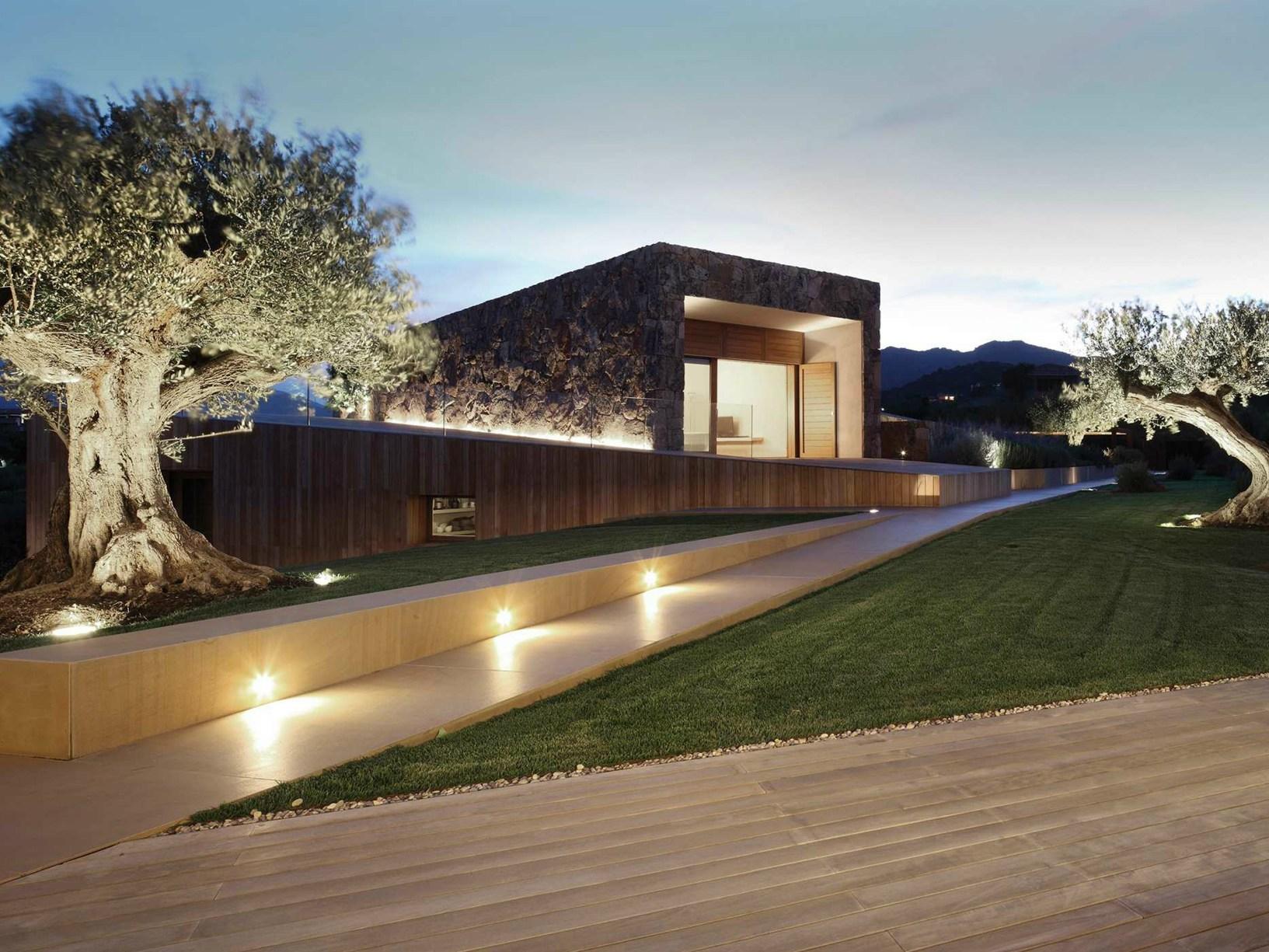 Giardini Per Case Moderne progettare l'illuminazione esterna del giardino: più di 30