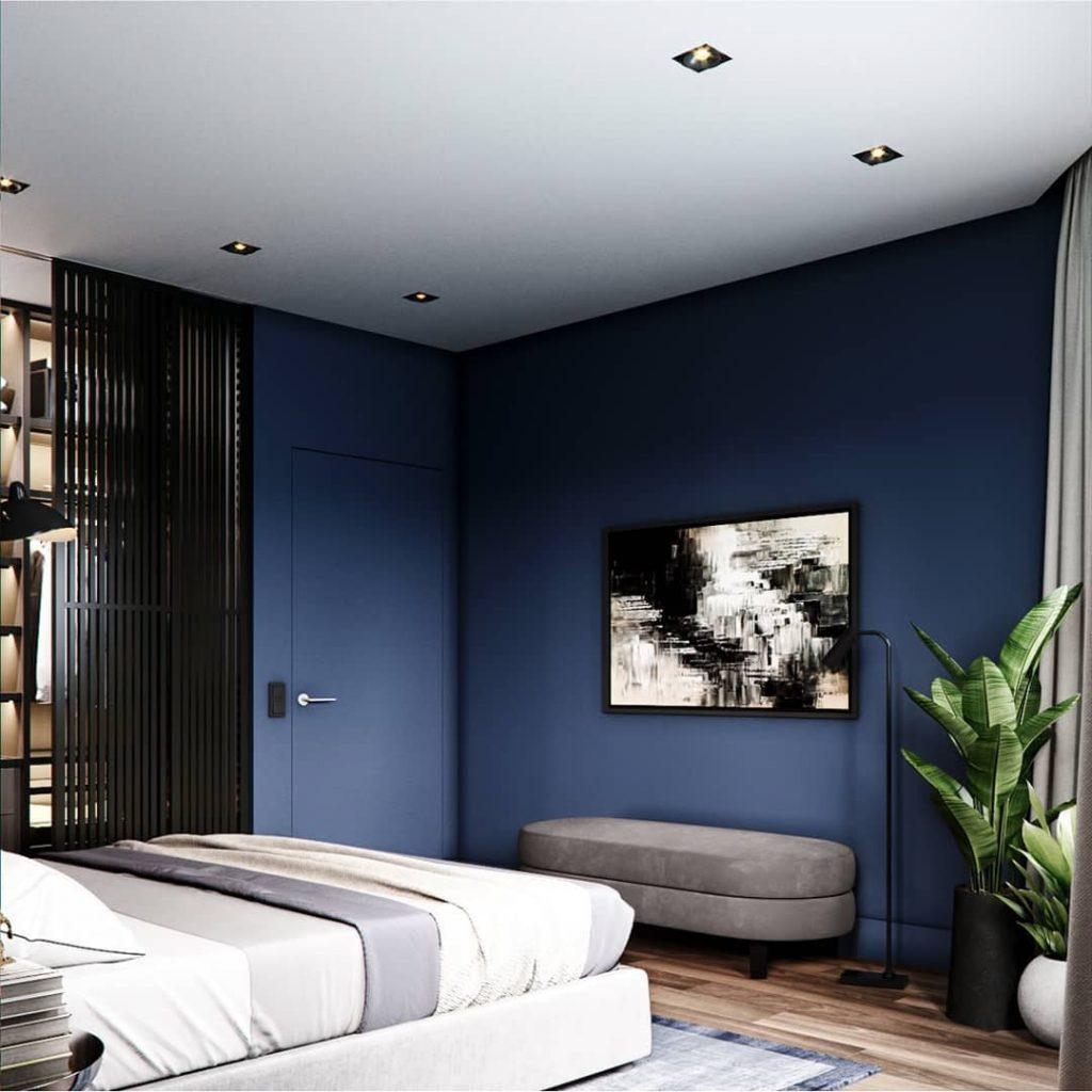 arredare casa in blu