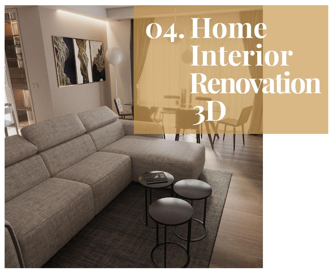 Home Interior Renovation 3D servizio consulenza interior design