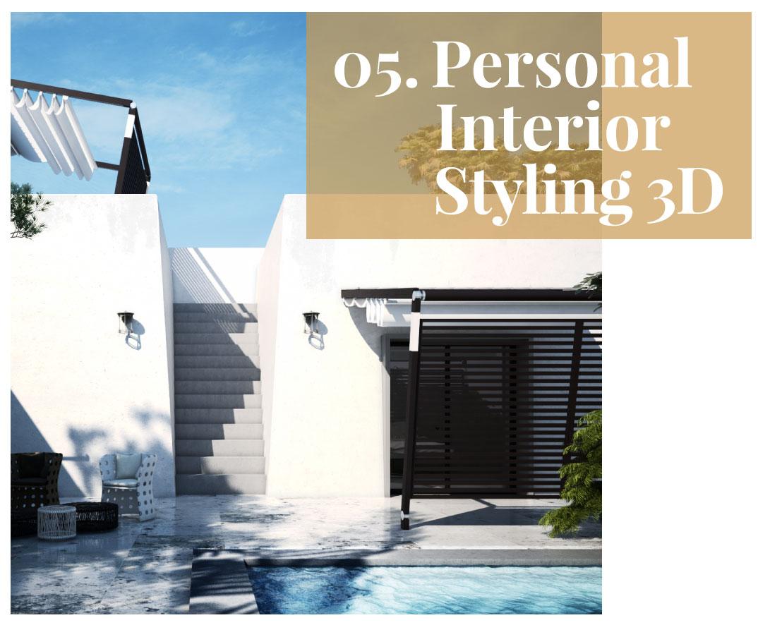 Personal Interior Styling 3D servizio consulenza interior design