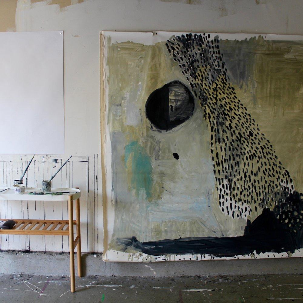 quadro enorme di pittore contemporaneo