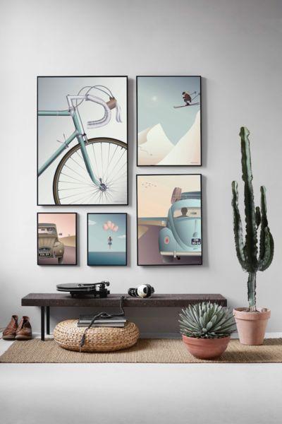 composizione di 5 quadri che formano un quadro grande