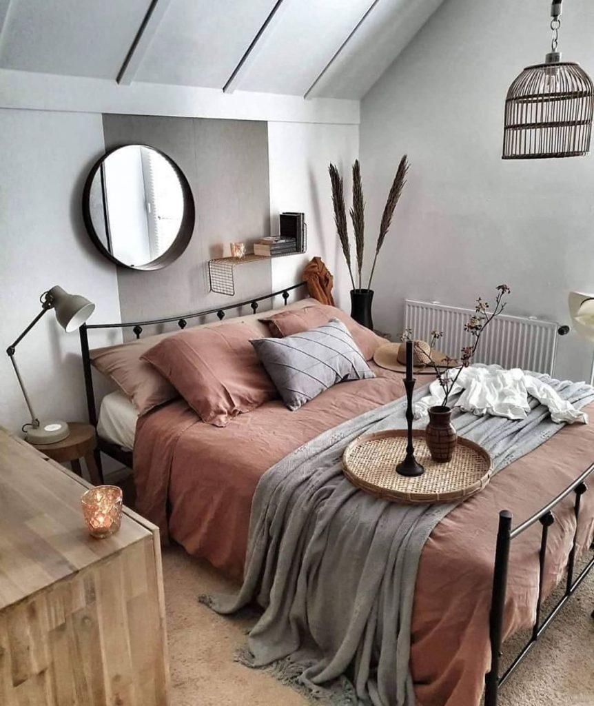 arredo camera da letto in stile scandinavo