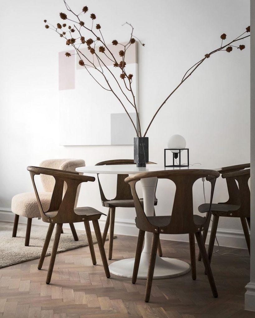 tavolo sala in stile scandinavo