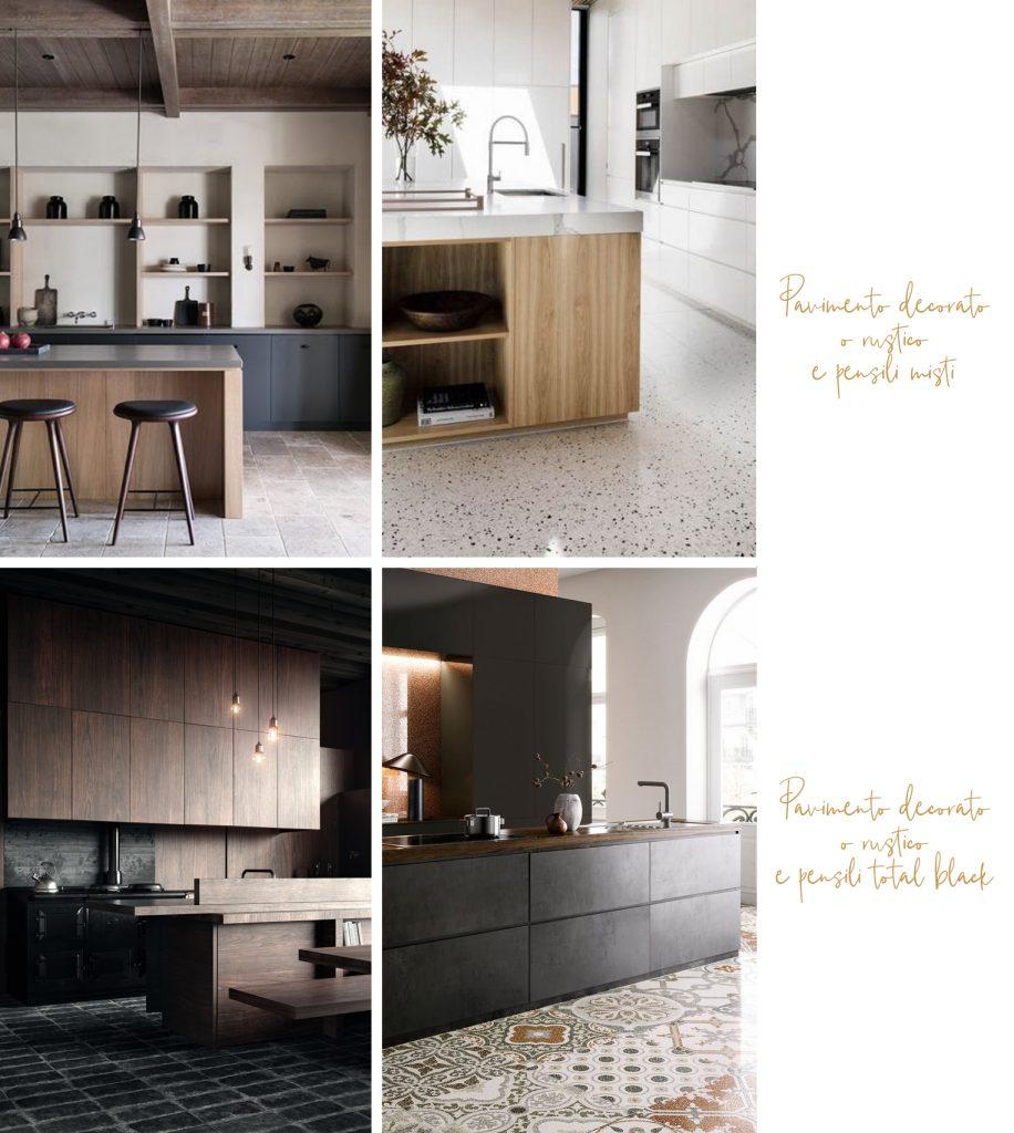 Abbinare il colore cucina con pavimento