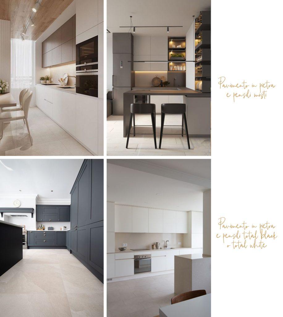 Abbinamenti cucine con pavimenti