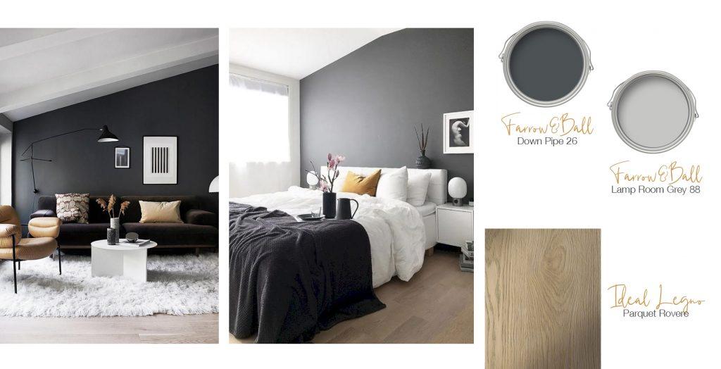 Tinteggiare casa con colori scuri