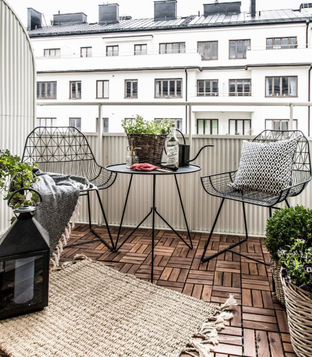 balcone arredato minimal