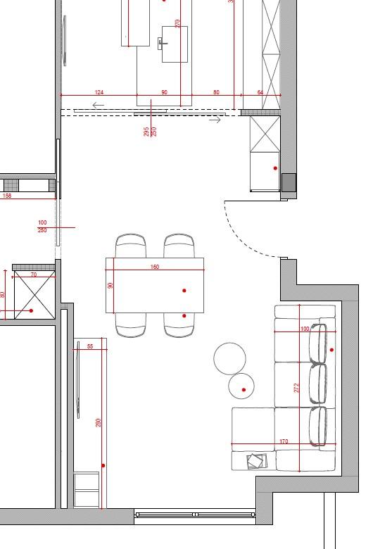 progetto soggiorno rettangolare