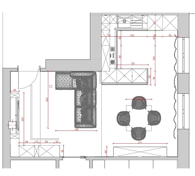 progetto soggiorno rettangolare dove posizionare televisore