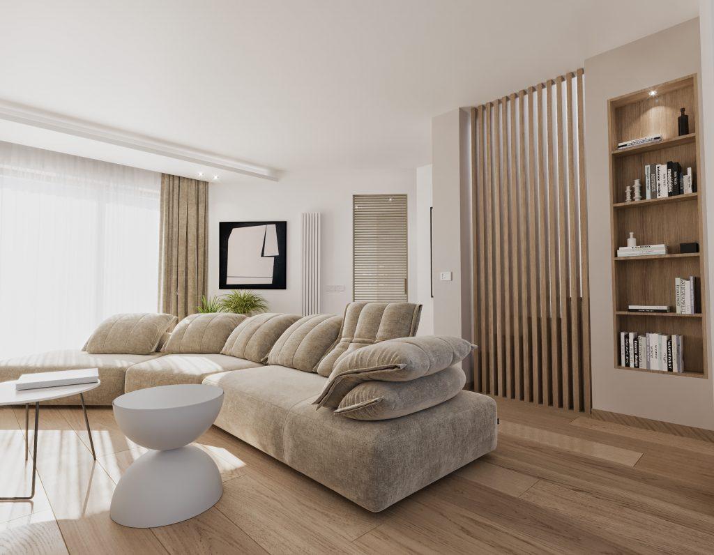 idea di soggiorno rettangolare