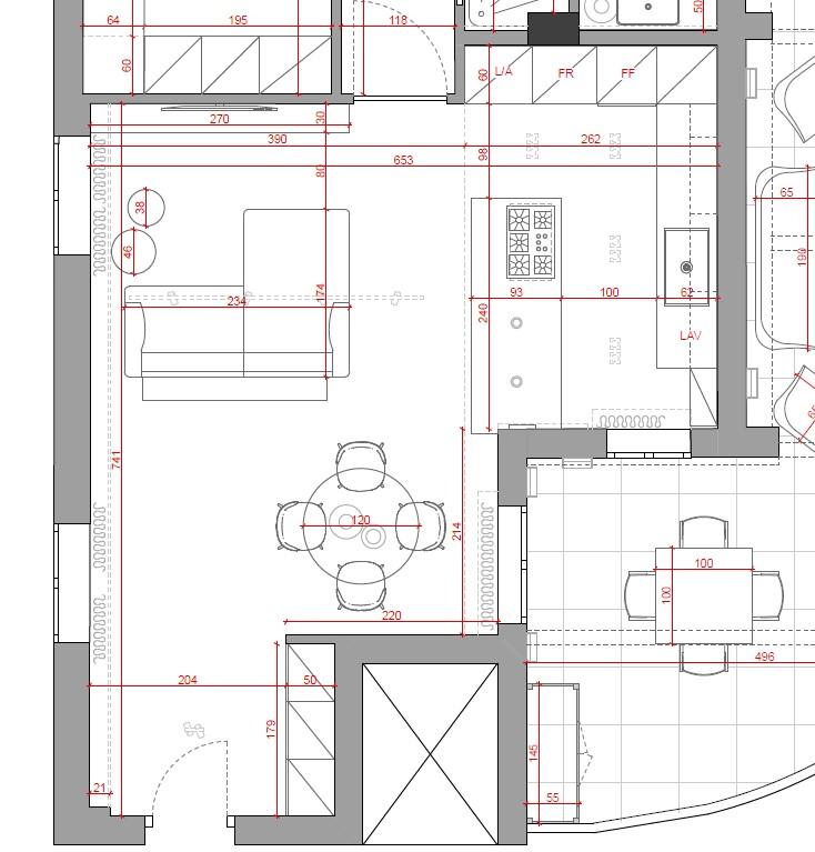 progetto soggiorno grande rettangolare